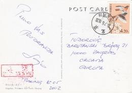 CHINA Postcard Sent To Croatia Beijing 2002 - 1949 - ... Volksrepubliek