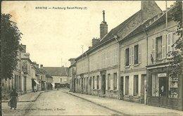 02 Aisne BRAINE Faubourg Saint Rémy 2 Epicerie Tabac Cartes Postales Animée - France