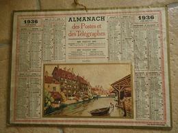 CALENDRIER PTT 1936 ALMANACH Des Postes Et Télégraphes - Départ. De La Seine - Illustration : Aurillac - Calendriers