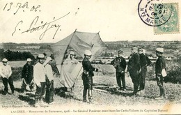 LANGRES = Manoeuvres De Forteresse 1906 = Le Général Pendezec Examinant Les Cerfs-volants   835 - Langres