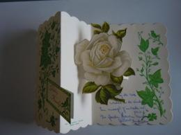 Felicitaties Huwelijk Felicitations De Mariage Carte Double Pop-up Rose Roos 12 X 14,5 Cm - Andere