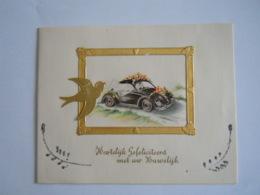Felicitaties Huwelijk Felicitations De Mariage Carte Double Auto VW Coloprint 11336 Form 14 X 11 Cm - Other