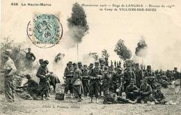 LANGRES = Manoeuvres 1906 = Bivouac Du 109ème Au Camp De Villiers Sur Suize   838 - Langres