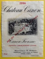 11558 -  Château Canon 1986 Canon Fronsac - Bordeaux