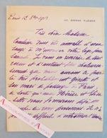 L.A.S 1913 Vice Amiral René Julien MARQUIS - Lettre Autographe - Né à Rochefort Charente Maritime - Autographes