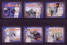 ALDERNEY MI-NR. 167-172 C ** SOZIALE DIENSTE(I) - GESUNDHEITSWESEN 2001 - Alderney