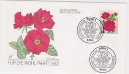 Germany FDC 1982 Für Die Wohlfahrt - Roses (T4-33) - FDC: Buste