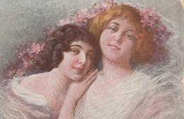 Cartolina - Postcard /   Viaggiata - Sent /  Donnine - Illustratore G. Grossi. - Women