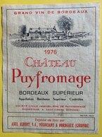 11572 -  Château Puyfromage 1976 - Bordeaux