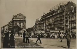 Bruxelles // Carte Photo Place De Brouckere Et Ave. Ad. Max (automobiles) 193? - Marktpleinen, Pleinen