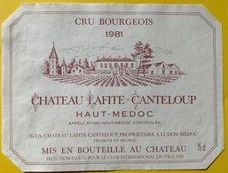 11574 -  Château Lafite-Canteloup 1981 Haut-Médoc - Bordeaux
