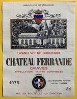 11575 -  Château Ferrande 1979 Graves - Bordeaux