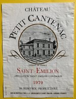 11576 -  Château Cantenac 1979 Saint-Emilion - Bordeaux