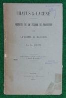 Livre Vestiges De La Période De Transition Dans La Grotte Du Mas D'Azil - Auteur É. Piette - Année 1895 - Archeologia
