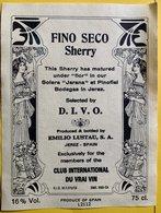 11580 -  Fino Seco Sherry Emilio Lusto Jerez Dans Le Style Art Nouveau - Art Nouveau