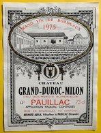 11581 - Château Grand-Duroc.Milon 1975 Pauillac - Bordeaux
