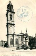 LANGRES = L'église St Martin   Cachets Hopital Complémentaire  (1 Au Dos) ..  845 - Langres