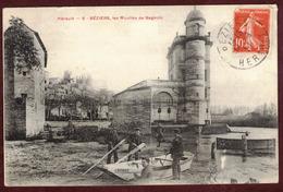 Béziers Les Moulins De Bagnols Rivière L' Orb  - Hérault 34500 - Moulin -  Barque Adamas  - - Beziers