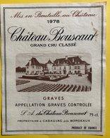 11582 - Château Bouscaut  1978 Graves - Bordeaux