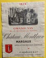 11584 - Château Montbrun 1972 Margaux - Bordeaux