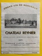 11585  - Château Reynier 1971 - Bordeaux