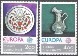 Türkiye 1976 Michel 2385 - 2386 Neuf ** Cote (2015) 12.00 Euro Europa CEPT Artisanat - 1921-... República
