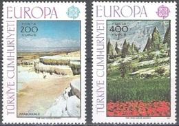 Türkiye 1977 Michel 2415 - 2416 Neuf ** Cote (2015) 10.00 Euro Europa CEPT Paysages - 1921-... República