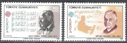 Türkiye 1985 Michel 2706 - 2707 Neuf ** Cote (2015) 20.00 Euro Europa CEPT Compositeurs - 1921-... República