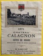 11587  - Château Calagnon 1971 Côtes De Bourg - Bordeaux