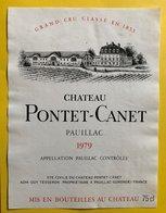 11588  - Château Pontet-Canet 1979 Pauillac - Bordeaux