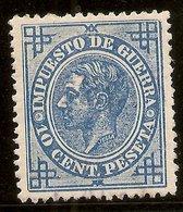 España Edifil 184 (*) Mng  10 Céntimos Azul Alfonso XII  1876   NL1566 - Nuevos