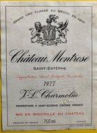 11592  - Château Montrose 1977 Saint Estèphe - Bordeaux