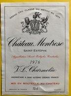 11593  - Château Montrose 1976 Saint Estèphe - Bordeaux