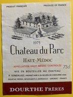 11594  - Château Du Parc  1975  Haut-Médoc - Bordeaux