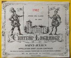 11596  - Château  Lagrange 1982 Saint Julien - Bordeaux