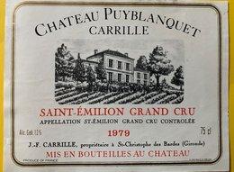 11597  - Château Puyblanquet Carrille 1979 Saint-Emilion - Bordeaux