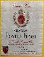 11599  - Château  Pontet-Fumet 1964 Saint-Emilion - Bordeaux