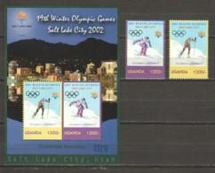 Uganda 2002 Mi 2465-2466 + Block 352 MNG WINTER OLYMPICS SALT LAKE CITY - Winter 2002: Salt Lake City