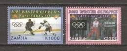 Zambia 2002 Mi 1394-1395 MNG WINTER OLYMPICS SALT LAKE CITY - Inverno2002: Salt Lake City