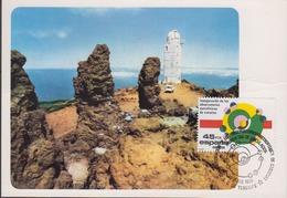 Spain 1985 Observatorios Astrofisicos De Canaries 1v Maxicard (44521) - Maximum Kaarten