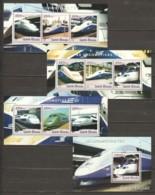 Guinee Bissau 2001 - MNH Set TGV LOCOMOTIVES - Trains