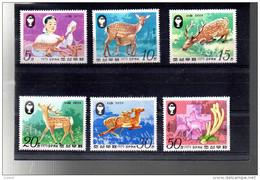 COREE DU NORD 1542B/1542F + A 11A** SUR LA PROTECTION DE LA NATURE  LE CERF SIKA - Corée Du Nord