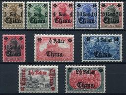 44366) DT.KOLONIEN China # 38-47 Gefalzt Aus 1906/19, 70.- € - Oficina: China