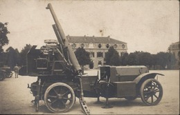 CPA Carte Photo Militaria Militaire Automobile Voiture Canon Anti Aérien Guerre 1914 1918 - Guerra 1914-18