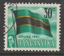 Kenya Tang 1961 Independence Day 30 C Multicoloured SW 70 O Used - Kenya, Uganda & Tanganyika