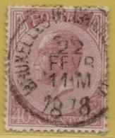 +MW-4427      BRUXELLES RUE CHANCELLERIE    Enkel Cirkel  OCB  20 - 1865-1866 Profile Left