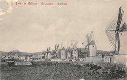 Palma De Mallorca Molinos Moulin à Vent Attention à L'état - Palma De Mallorca