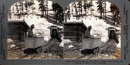 Keystone View Company - 1900 - USA 20050 Drift Entrance To Gold Mine, James Peqk Mining & Milling Cie, Alice, Colorado - Photos Stéréoscopiques