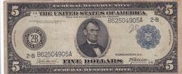 5  DOLLAR   1914 - Billets De La Federal Reserve (1914-1918)
