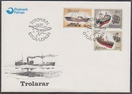 Faroe Islands 1987 Fishing Ships 3v FDC (44526) - Faeroër